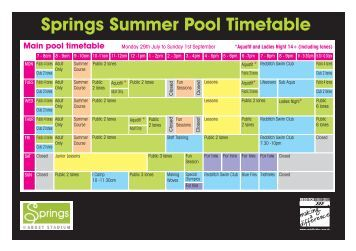 Timetable Firefly Holiday