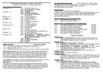 32. Sonntag im Jahreskreis / Evangelium: Mk 12,38 ... - St-Alexander