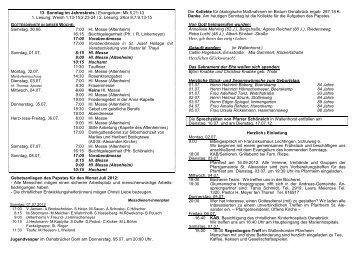 13. Sonntag im Jahreskreis / Evangelium: Mk 5,21-43 ... - St-Alexander