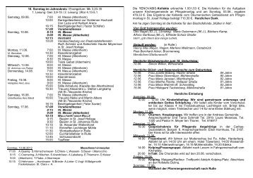 10. Sonntag im Jahreskreis / Evangelium: Mk 3,20-35 ... - St-Alexander