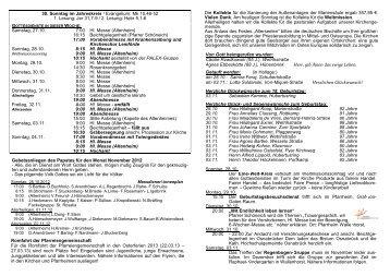 30. Sonntag im Jahreskreis / Evangelium: Mk 10,46 ... - St-Alexander