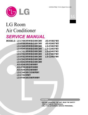lg room air conditioner manual