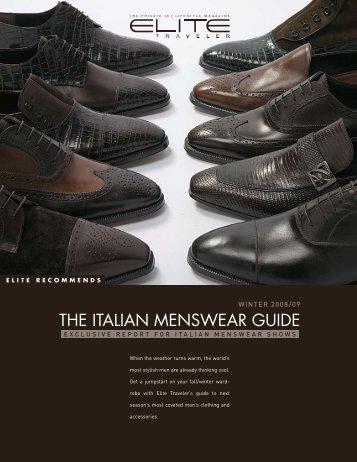 THE ITALIAN MENSWEAR GUIDE - Elite Traveler