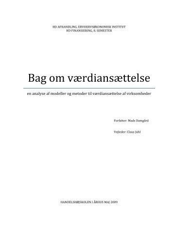 Bag om værdiansættelse - PURE
