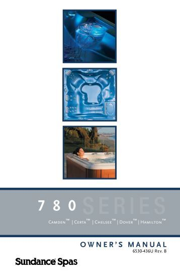 sundance spas manuals 800 series