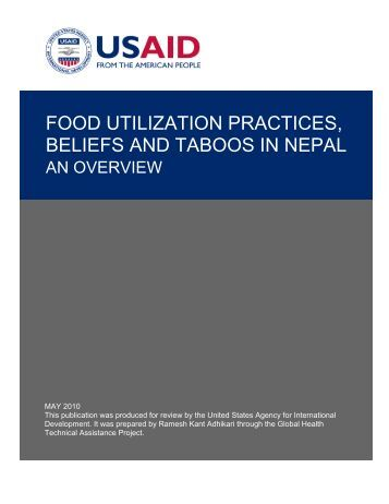 Food utilization practices, beliefs and taboos in Nepal: An overview