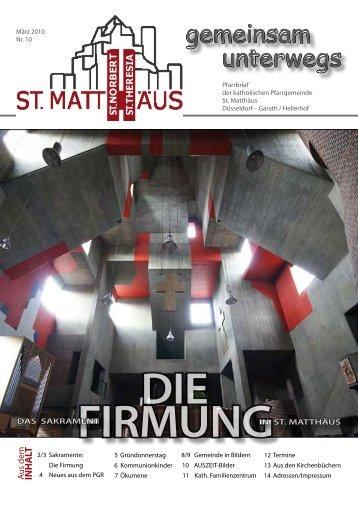 März 2010 - Katholische Pfarrgemeinde St. Matthäus Düsseldorf