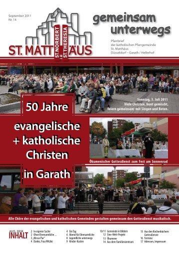 September 2011 - Katholische Pfarrgemeinde St. Matthäus Düsseldorf