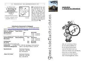 19.02.2012 7. Sonntag im Jahreskreis - St. Norbert