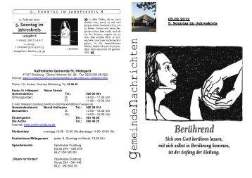 05.02.2012 5. Sonntag im Jahreskreis - St. Norbert