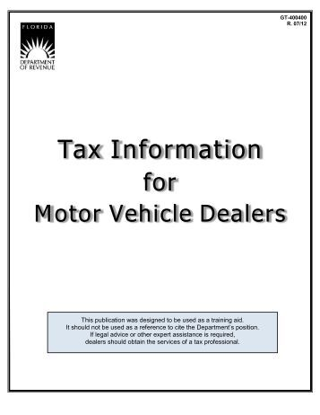 96 143 motor vehicle rental tax guidebook texas for Florida department of motor