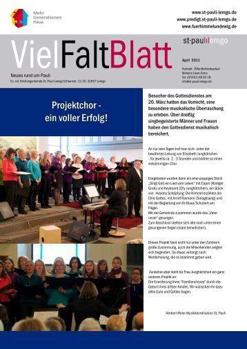 Projektchor - ein voller Erfolg! - St-Pauli-Lemgo