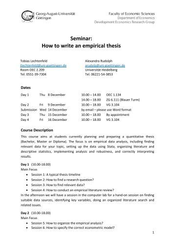 Write empirical thesis