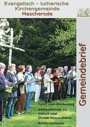 Gemeindebrief März 2009-Mai 2009 Internet 1 - Kirche Mascherode