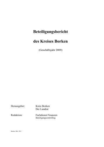 Beteiligungsbericht des Kreises Borken - Kreis Borken