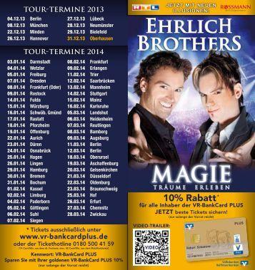 Flyer EHRLICH BROTHERS - Volksbank Offenburg
