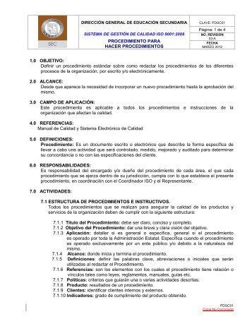 PROCEDIMIENTO PARA HACER PROCEDIMIENTOS 1.0 ...