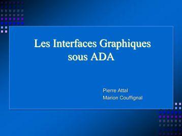 Les Interfaces Graphiques sous ADA - Cours