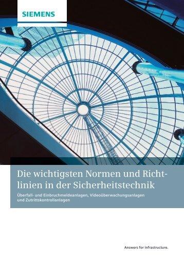 Die wichtigsten Normen und Richt linien in der ... - Siemens