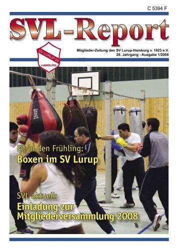 Boxen im SV Lurup Einladung zur  Mitgliederversammlung  2008