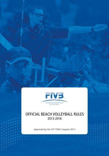 beach volley ball rules