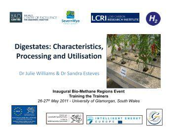 Digestates: Characteristics, Processing and Utilisation