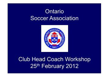 every - Ontario Soccer Association