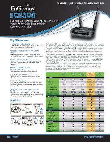 ECB300 Datasheet - EnGenius Technologies
