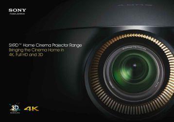 SXRD™ Home Cinema Projector Range Bringing ... - Heimkino Aktuell