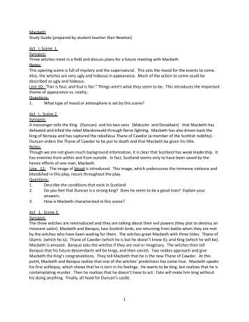macbeth act i and ii study Macbeth act ii study guide - '= fri-hr  11 school north cobb high school  course title literature british li type test prep uploaded by.