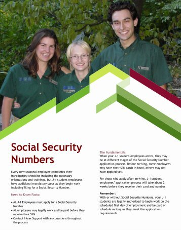 Social Security Numbers - Intrax