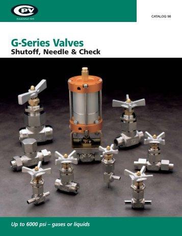 G-Series Valves - CPV Manufacturing, Inc.