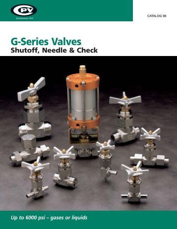 G-Series Valves - CPV Manufacturing, Inc.