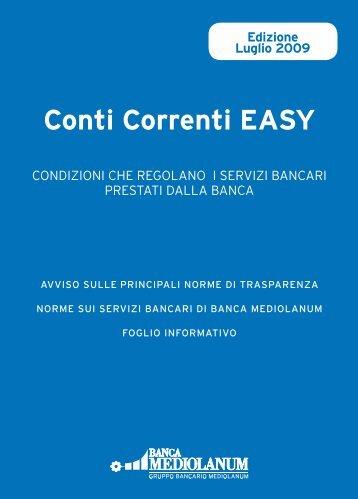 Conti Correnti EASY - Banca Mediolanum