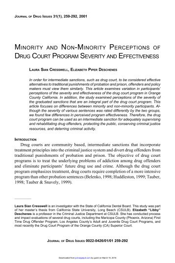 the effectiveness of diversion programs for offenders criminology essay The effectiveness of diversion programs for offenders criminology essay a condemnable strong belief does non needfully intend that persons will be subjected to imprison or prison in some instances, persons are afforded the chance of go toing a recreation plan.