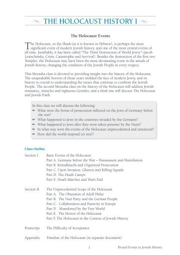 The Holocaust History I.pdf - Morasha Syllabus