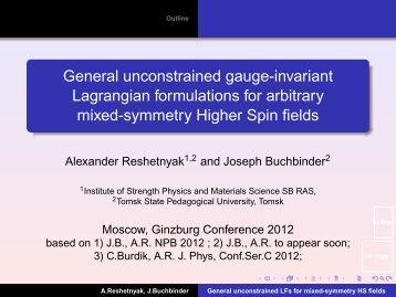 General unconstrained gauge-invariant Lagrangian formulations for ...