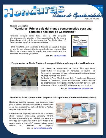 Boletín # 10 - Secretaría de Relaciones Exteriores de Honduras