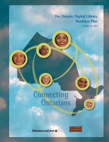 Ontario digital library business plan
