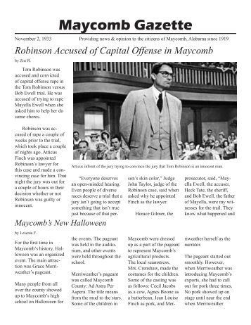 article on toms trial to kill Atticus finch is the hero of the classic american novel to kill a mockingbird, by harper lee he is one of the best-known and most beloved father figures in american literatureatticus is a strong, fully developed character: a man of principle who is willing to risk his life and his career in the pursuit of justice for wrongly accused tom robinson.