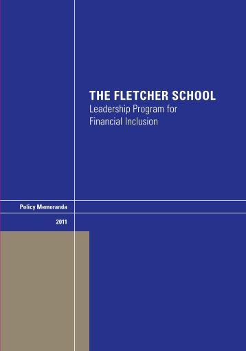 The Fletcher School Leadership Program for Financial Inclusion