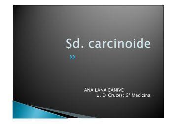 Síndrome carcinoide - EXTRANET - Hospital Universitario Cruces