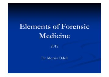 Elements of Forensic Medicine - Victorian Institute of Forensic ...