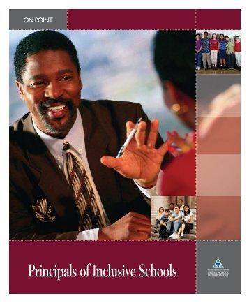 Principals of Inclusive Schools - Special Education