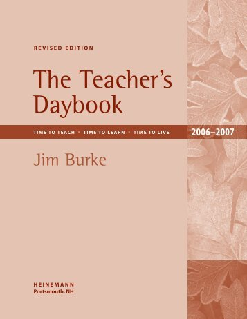 How to Use The Teacher's Daybook - Heinemann
