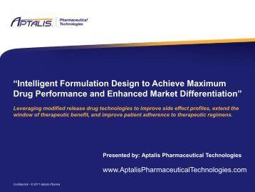 """""""Intelligent Formulation Design to Achieve Maximum Drug ..."""