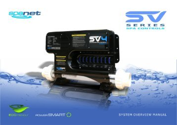 Spa Net SV series User Manual - West Coast Spas