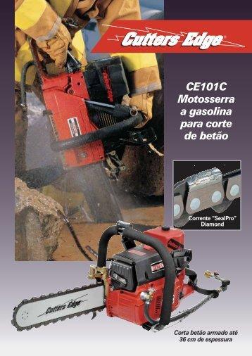 CE101C Motosserra a gasolina para corte de betão - Cutters Edge