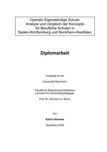 Diplomarbeit - Ebner - Universität Mannheim