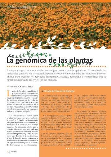 La genómica de las plantas